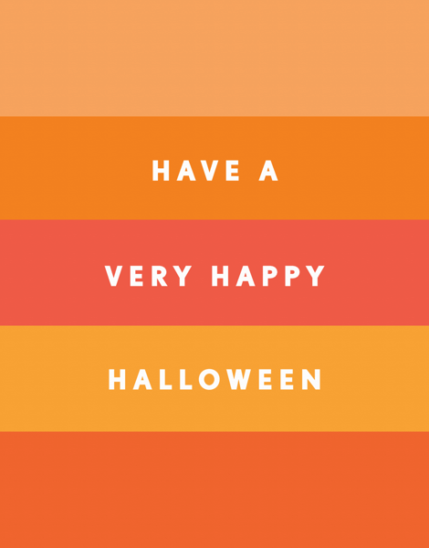 Halloween Stripes Halloween Card