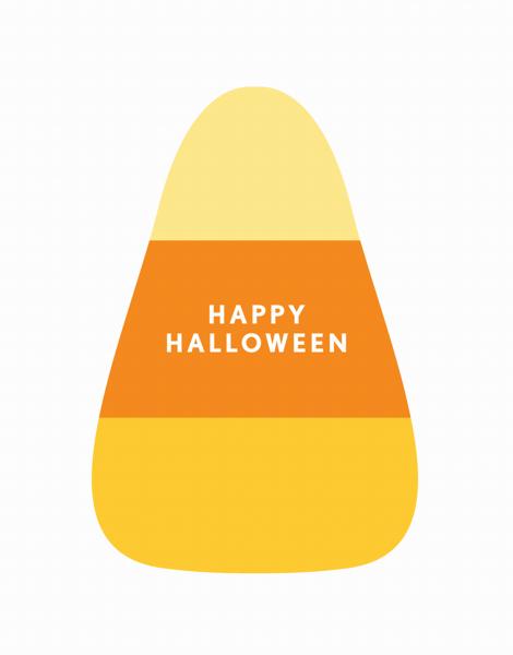 Candy Corn Halloween Card