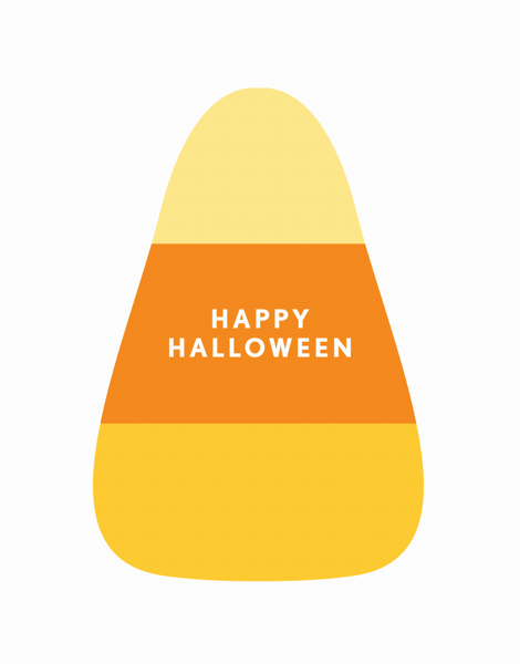 Candy Corn Halloween Card