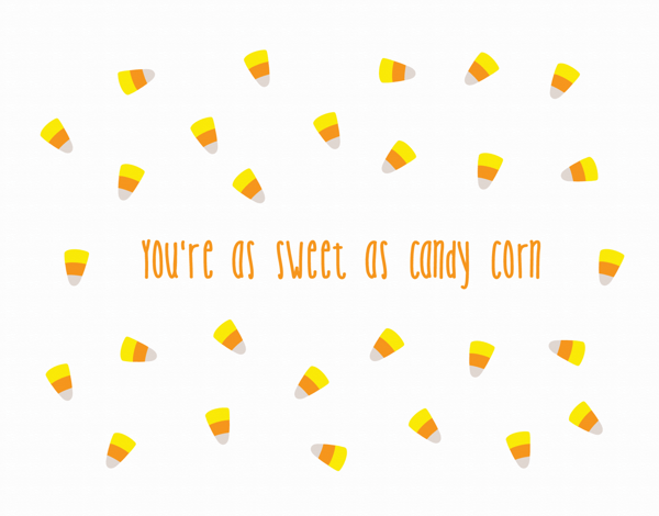 Sweet Candy Halloween Card