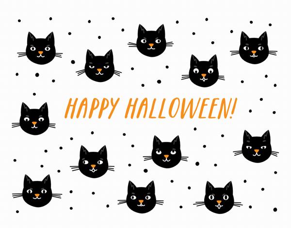 Cat Halloween Card
