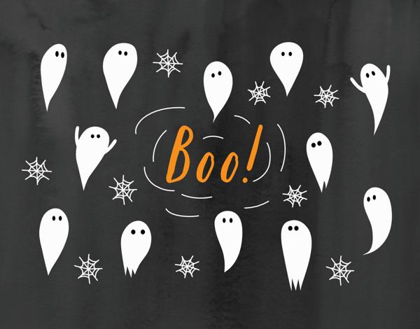 Ghost Web Halloween Card
