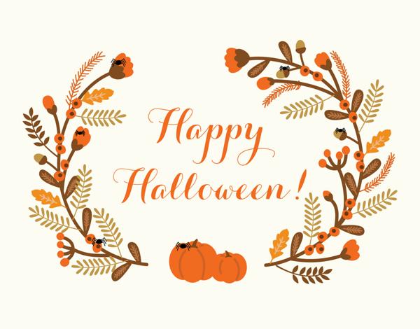 Rustic Wreath Halloween Card