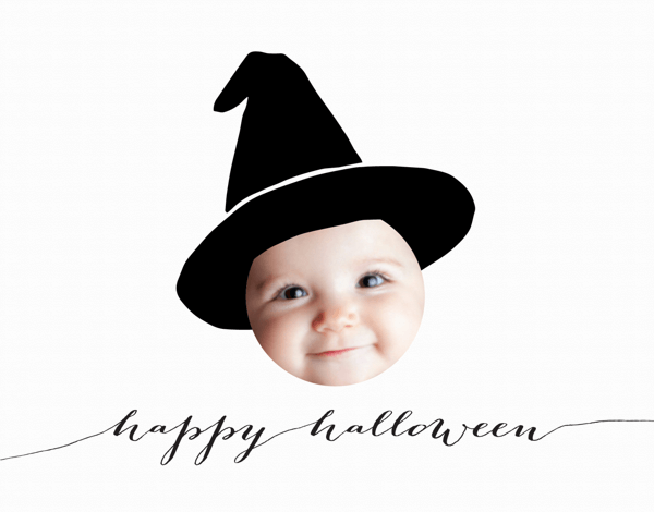 Little Witch Halloween Card