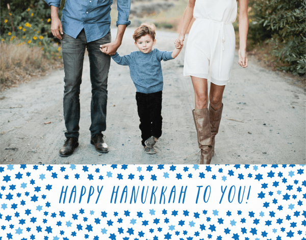 Hanukkah Stars Photo Card