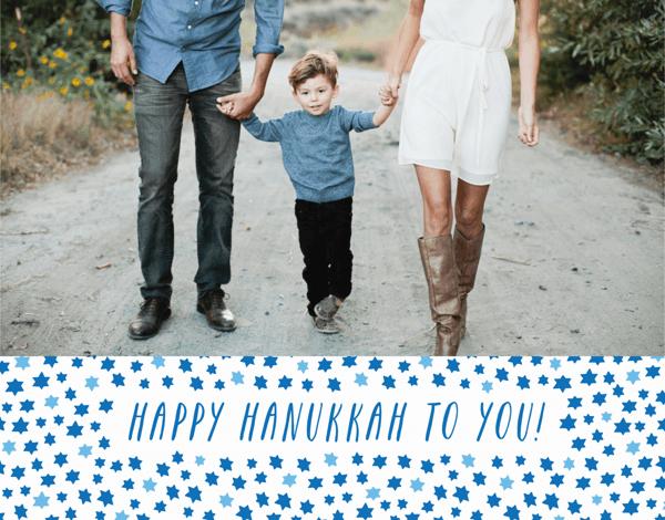 Hanukkah Stars Photo Card
