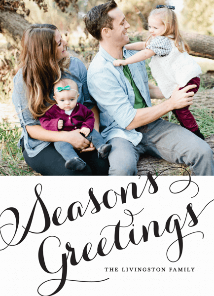 Season's Greetings Cursive Photo Card