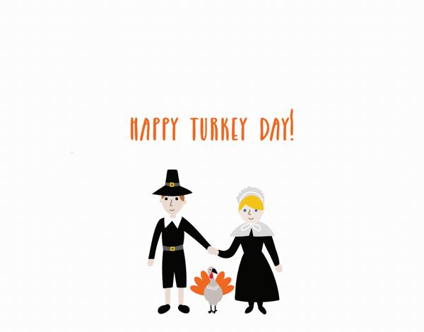 Pilgrims Thanksgiving Card