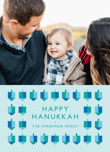 Geometric Dreidels Hanukkah Card