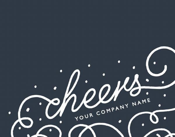 Flourish Cheers Business Holiday Card