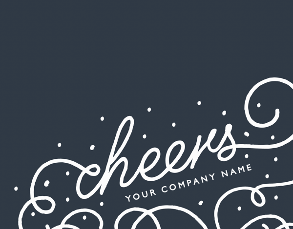 Flourish Cheers Business Holiday Card