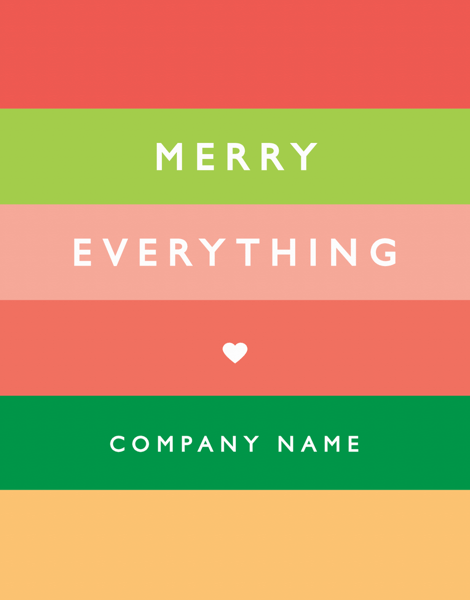 Rainbow Stripes Business holiday greeting