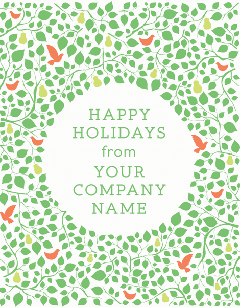 custom happy holidays for businesses greeting card