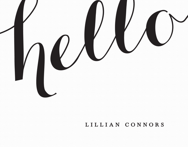Big Hello Custom Stationery