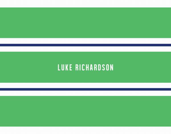 Green & Blue Stripes