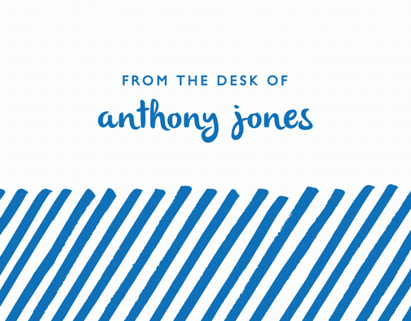 Blue Lines Customized Stationery