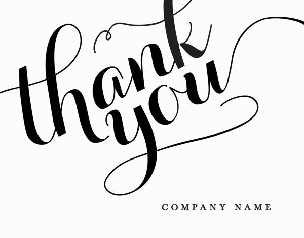 Elegant Company Thank You Card