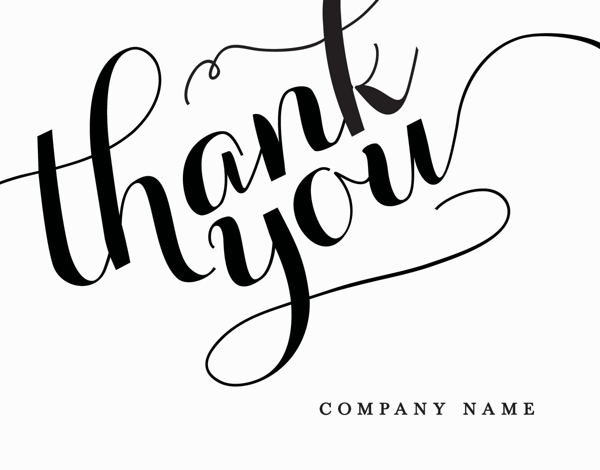 Elegant Company Thank You Card