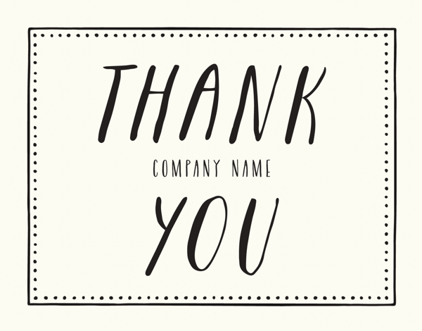 Picnic Business Thank You Card