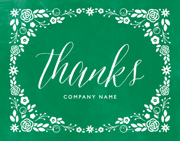 Green Personalized Thank You Card