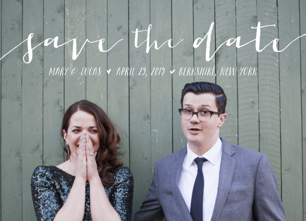 Sweet Script White Save the Date