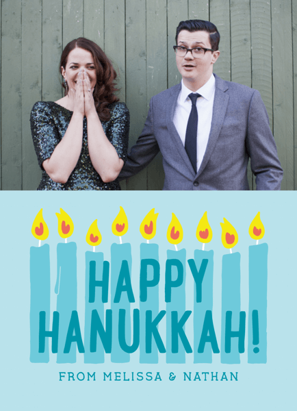 eight Candles Photo template Hanukkah Card