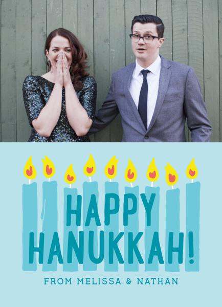 eight Candles Photo template Hanukkah Card