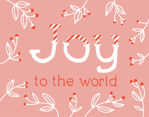 Joy Candy Cane Holiday Card