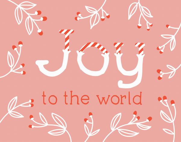Joy Candy Cane Holiday Card