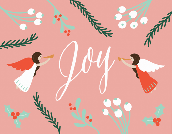 Joy Angels Holiday Card