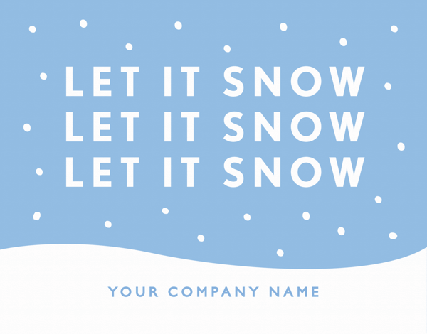Let It Snow Business Holiday Card