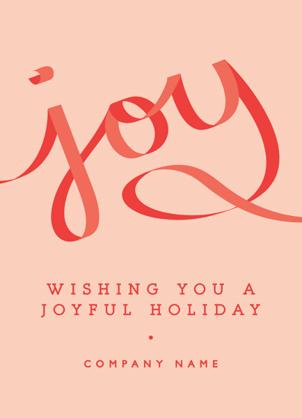 Joyful Ribbon Corporate Holiday Card