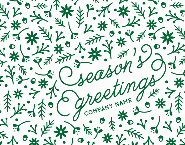 green season's greetings card for businesses