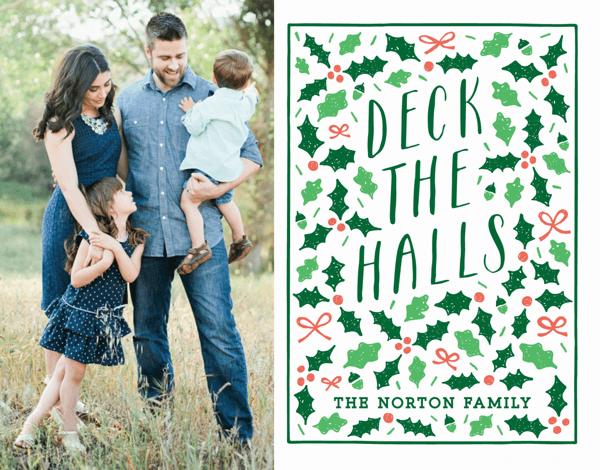 Deck The Halls Custom Photo Card