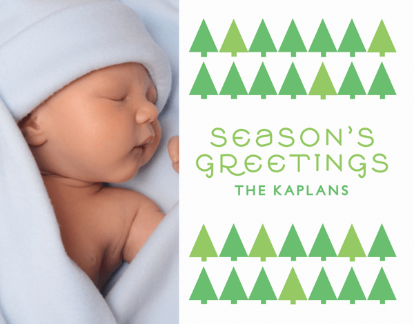 Little Trees Season's Greetings Photo Card