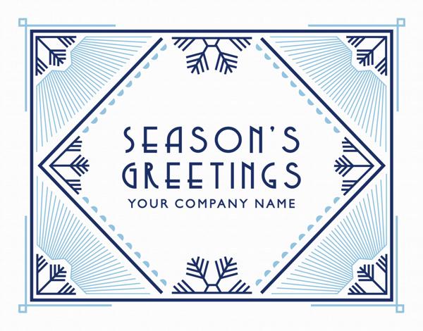 Custom Art Deco Holiday Card for Business