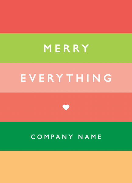 Rainbow Stripes Business Holiday Card
