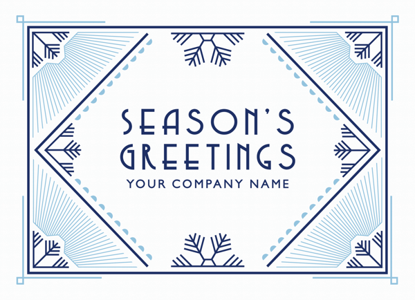 Art Deco Snow Business Holiday Card