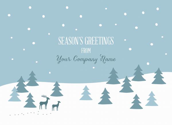 Snowy Greetings Company Card