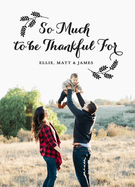 Flourish Script Custom Thanksgiving Card