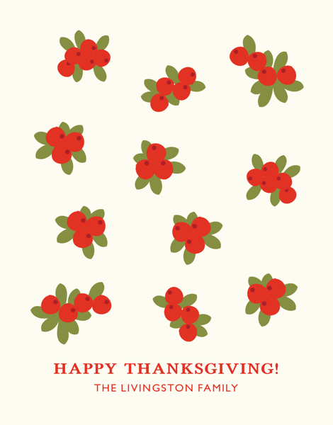 Cranberry Texture Thanksgiving Card