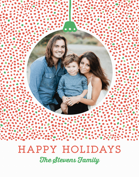 Dots Ornament Holiday Card
