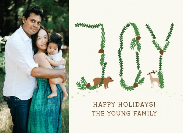Pine Joy Custom Holiday Card