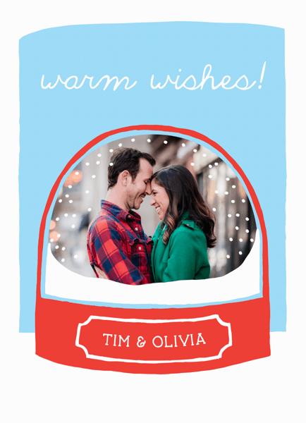 Snow Globe Custom photo Holiday Card