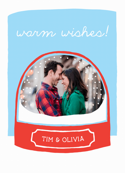 Snow Globe Custom photo Holiday Card