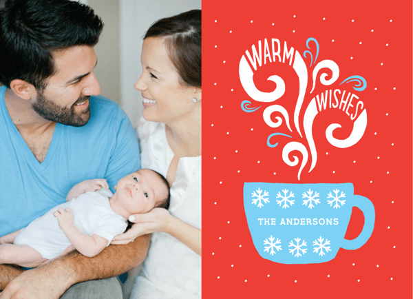 Warm Wishes Mug Photo Holiday Card