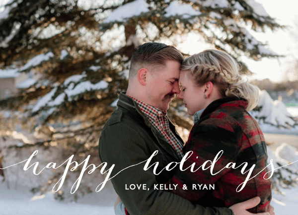 white-script-customizable-holiday-card