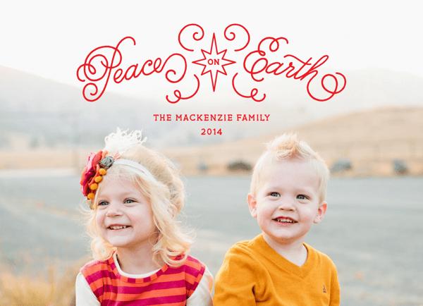 Peace On Earth Holiday Card