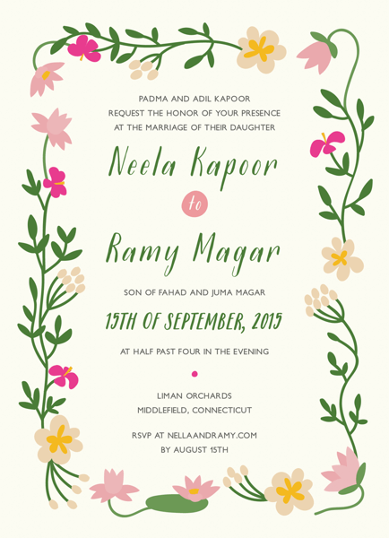 Tropical Personalized Wedding Invite