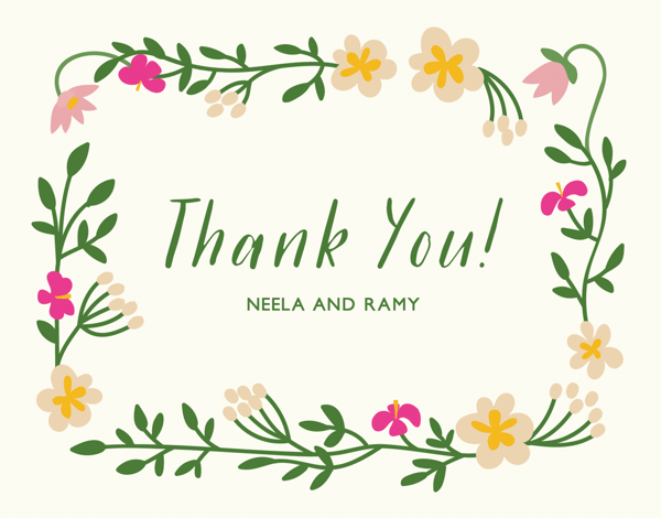 Tropical Custom Thank You Note